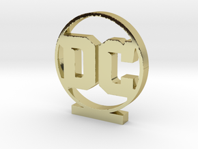 DC Logo in 18k Gold Plated Brass