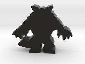 Game Piece, Werewolf Standing in Black Natural Versatile Plastic
