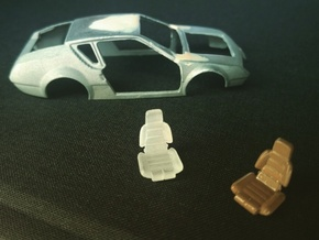 1/55 siège Alpine A310 / seat car in Smooth Fine Detail Plastic