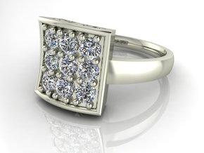 Fancy dress ring NO STONES SUPPLIED in Fine Detail Polished Silver