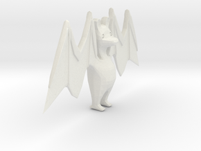 Character Toon Bat  in White Natural Versatile Plastic: Small