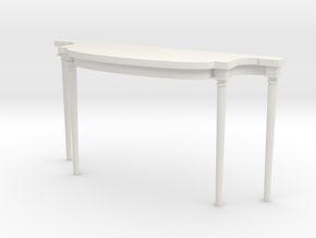 1:48 Louis XVI Console Side Table in White Strong & Flexible
