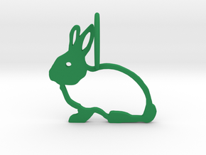Cute Rabbit in Green Strong & Flexible Polished
