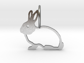 Cute Rabbit in Natural Silver