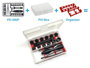 NT Cutter PD-300P Tool Organizing Inserts in Red Processed Versatile Plastic