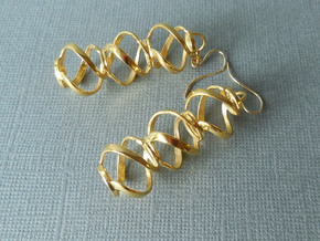 Swirl 3 - Pair of earrings in metal in 18k Gold Plated