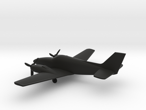 Beechcraft Baron G58 in Black Strong & Flexible: 1:144