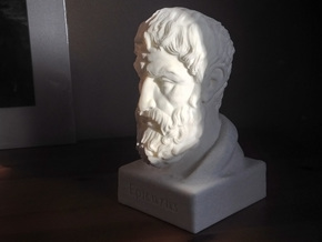 Epicurus Bust 6 inches in White Natural Versatile Plastic