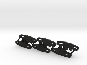 Panhard Chassis Mount - Flat (Qty 6) in Black Natural Versatile Plastic