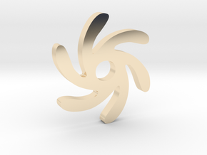 Spiral Sun Pendant in 14k Gold Plated Brass
