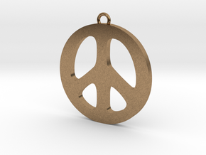 Peace Pendant in Natural Brass