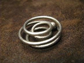 One ring to rule the ball in Polished Bronzed Silver Steel