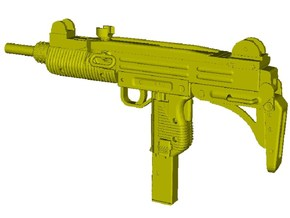 1/25 scale IMI Uzi submachinegun x 1 in Smooth Fine Detail Plastic