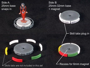 Fantasy Football Bases (12-16 pcs) in White Strong & Flexible Polished: Medium