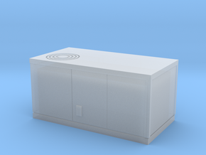 HO scale rooftop air conditioning unit in Smooth Fine Detail Plastic