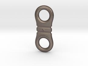 Fidget Toy in Polished Bronzed Silver Steel