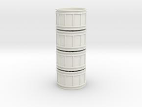 Multispoke Racing Wheel Small 4 piece set in White Natural Versatile Plastic