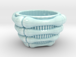 Bone Cup in Gloss Celadon Green Porcelain