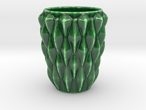 Scaled Cup in Gloss Oribe Green Porcelain
