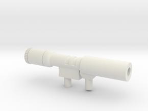Megatron-kanon in White Natural Versatile Plastic