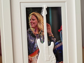 Stratocaster guitar for photo frame in White Strong & Flexible Polished