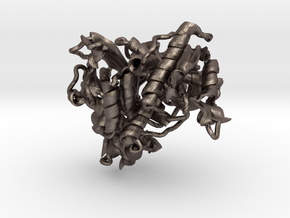 Phi29 Polymerase in Polished Bronzed Silver Steel: Small