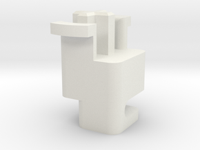 Topre to MX 6.25u Stabilizer Plunger (Left) in White Natural Versatile Plastic