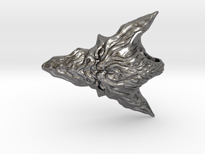Dragon Head Pendant Top 02 in Polished Nickel Steel