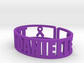 Team Danielle Cuff Fundraiser in Purple Processed Versatile Plastic