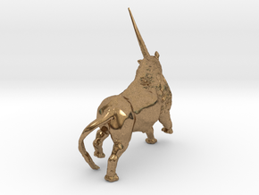 Elasmotherium in Natural Brass: Small