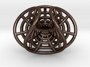 Enneper's mesh, steel, small in Polished Bronze Steel