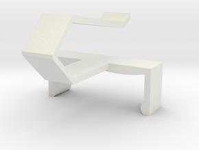 KERUI Remote Visor Clip in White Natural Versatile Plastic