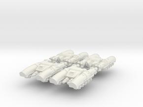6mm Perses Light Anti-Grav Tanks (4pcs) in White Natural Versatile Plastic