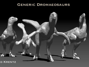 Dromaeosaurs or Raptors1/40 Krentz in White Natural Versatile Plastic