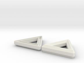 TRI TAINER Pendent  in White Natural Versatile Plastic