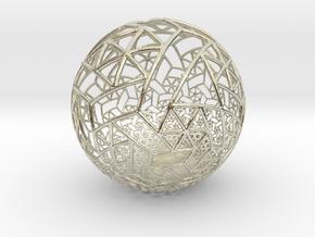 Grid Bulb II in 14k White Gold