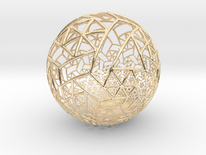 Grid Bulb II in 14k Gold Plated Brass