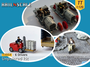 6 Drivers (TT 1:120) in Smooth Fine Detail Plastic
