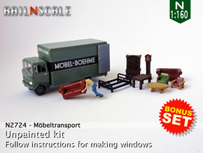 BONUS SET Möbeltransport (N 1:160) in Smooth Fine Detail Plastic