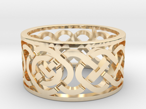 Celtic Knot Ring in 14k Gold Plated Brass