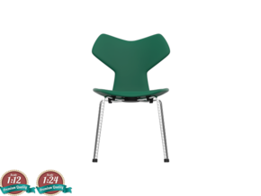 Miniature Grand Prix Chair - Arne Jacobsen  in White Natural Versatile Plastic: 1:24
