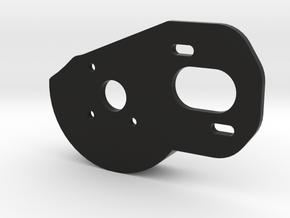 V2 Motor Plate w/Spur Guard in Black Natural Versatile Plastic