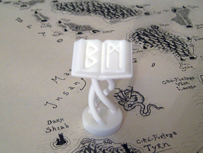 Role Playing Counter: Magic Tome in White Processed Versatile Plastic
