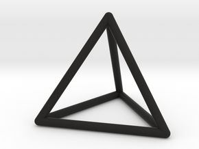 Tetrahedron Pendant in Black Natural Versatile Plastic