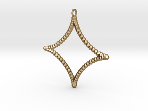 Astroid Pendant in Polished Gold Steel