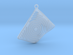 3D Printed Contemporary Pendant 03 - OMD3d.com in Smooth Fine Detail Plastic