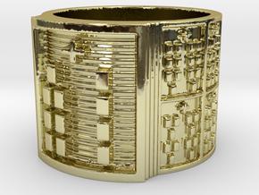 OGBEBARA Ring Size 13.5 in 18k Gold Plated Brass