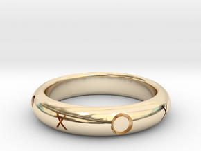 XOXO Ring in 14K Yellow Gold: 10.25 / 62.125