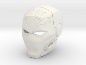 Deathstroke - TheTerminator 2 eyed helmet  in White Strong & Flexible