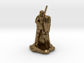 Human Ranger with Sword and Shield in Natural Bronze